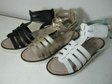 Sandales noires en synthétique pour fille de 2 à 16 ans