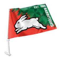 You Get 4 for South Sydney RABBITOHS Car Flags 45 X 30cm NRL