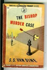 THE BISHOP MURDER CASE by SS Van Dine, rare US Pocket 1st crime pulp vintage pb