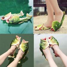Women Men Kid Sandals Tricky Simulation Fish Slipper Creative Design Beach Shoes