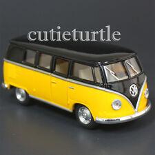 Kinsmart 1962 VW Volkswagen Classic Bus Samba 1:32 Diecast Toy Car Black Yellow