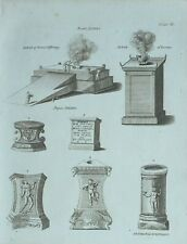 1783 ORIGINAL PRINT JEWISH ALTARS PAGAN ALTAR BURNT OFFERINGS INCENSE