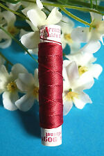 "410B / Superb Coil Drawstring Silk Gutermann "" Red Raspberry "" N° 909"