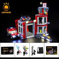 LED Light Up Kit For LEGO 60215 Fire Station City Series Lighting Set bricks Kit