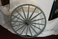 "Antique Wagon Wheel LARGE Size 16 Wood Spokes 40"" Tall Primitive Americana Farm"
