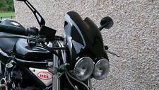 DOUBLE BUBBLE BLACK TWIN HEADLIGHT FLYSCREEN BANDIT HORNET XJR GSX STREETFIGHTER