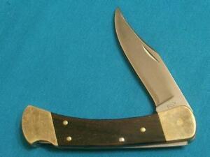 VINTAGE '70S BUCK USA 110 2DOT LOCKBACK FOLDING HUNTER BOWIE KNIFE KNIVES POCKET