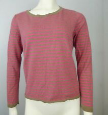 H&M Women's Pink And Brown Stripe Sweater Long Sleeve Size Medium