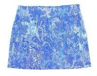 EUC Attyre Golf Activewear Women's Blue Patterned Pull On Skort Size 12 NICE!