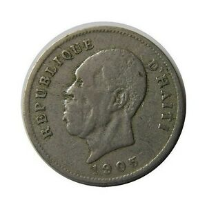 elf Haiti 5 Cent 1905 President  Waterbury Mint