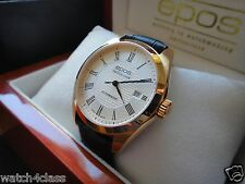 Genuine EPOS-Originale 3411.131 (Switzerland) Men's automatic Watch white & gold
