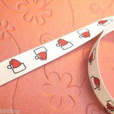 """10 x Yds 3/8"""" Satin Santa's Hat Christmas Ribbon XR09"""