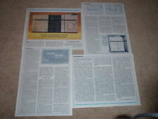 Pioneer A-8 Amplifier,F-7 Tuner Review,1981,4 pgs,RARE!