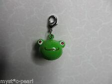 New 3D Clip on Green Frog Charm for Link Bracelet / Handbag / Purse  Make up Bag