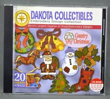 Dakota Collectibles COUNTRY CHRISTMAS #970123 Embroidery Design Collection