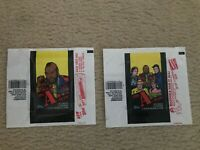 Set of 2 1983 Topps A Team  Mr T / Cast Photo  Wrappers  ExMt