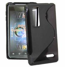 Rubber Case Wave für LG P720 Optimus 3D Max in schwarz Silikon Skin Hülle black