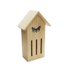 Wooden Hanging Butterfly House Predator Safe Box Garden Nest Tower HOTEL7