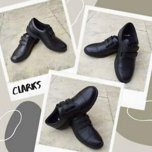 NEW! Clarks Kids Black School Shoes -  Various Sizes