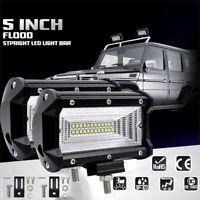 "1PC 5"" Inch 72W Flood LED Work Light Bar Truck Offroad SUV Driving Waterproof"