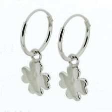 USA Seller 4 Leaf Lucky Clover Earrings Sterling Silver 925 Best Deal Jewelry