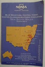 1999 NRMA Touring Map - Blue Mountains,Central Coast,Hunter, Illawarra, Sth High