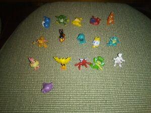 Pokemon Figures Lot Of 16 Plastic figurines 1 Inch Characters China PK