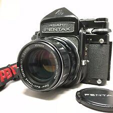 【Exc++++】Pentax 6x7 67 TTL Finder w/ SMC T 105mm f2.4, Strap from JAPAN 1019