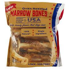 Oven Roasted 4Pk Marrow Bones Dog Treats Vitamins Healthy Happy Pets Bulk Pack