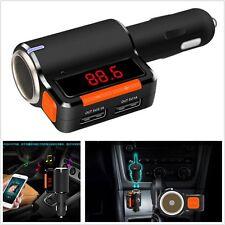 Bluetooth USB Ladegerät MP3 Radio FM Transmitter Zigaretten Anzünder Splitter