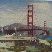 Round House Restaurant Golden Gate Bridge San Francisco View Water Postcard