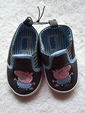BNWT Baby Boy's Peppa Pig George Pig Soft-Soled Shoes Size 4