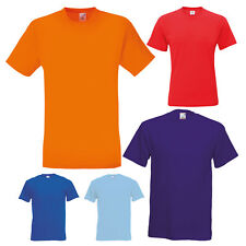 FRUIT OF THE LOOM PLAIN COTTON T-SHIRT ORIGINAL SHORT SLEEVE TEE S-5XL SS12