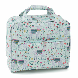 NEW SEWING MACHINE CARRYING/STORAGE BAG PVC WIPE CLEAN  LLAMA   FREE UK DELIVERY