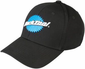 Park Tool HAT-9 Classic Logo Ball Cap Black Blue And White Logo Adjustable Hat
