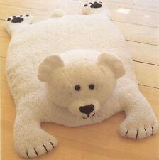 (657) DK Knitting Pattern for Adorable Polar Bear Baby Rug