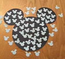 Small Disney Inspired Mickey Mouse Heads Table Confetti, 100 Baby Blue Glitter