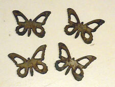 "Lot of 4 Butterfly Shapes 2"" Rusty Metal Vintage Stencil Ornament Craft Stencil"