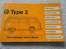 1977 VW Volkswagen Type 2 Bus Van Wagon Owners Manual
