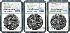 2016 NORSE GODS 3-COIN SET - ODIN, THOR, LOKI - NGC PF70 FIRST RELEASES - OGP