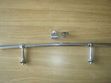 CLASSIC STAINLESS STEEL BADGE BAR 24 INCH CRANKED AND 2 SPOTLAMP CLIPS *NEW*