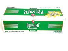 10x Boxes Premier Menthol King Size ( 2,000 Tubes ) Cigarette Roll Tobacco Green