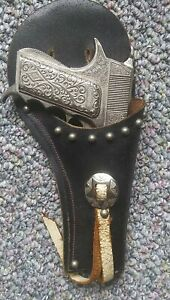Hubley Mountie Automatic Toy Cap Pistol/Holster/ Dose Not Work For  DisplayOnly