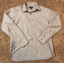Men's Ezekiel Long Sleeve Full Button Casual Shirt Large