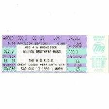 THE ALLMAN BROTHERS BAND Full Concert Ticket Stub 8/13/94 MANSFIELD MA HORDE