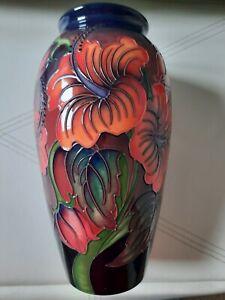 Moorcroft Hibiscus Flambe 10 inch vase