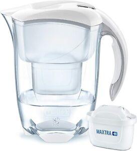 BRITA Elemaris MAXTRA+ Plus 2.4L Water Filter Fridge Jug + Cartridge White