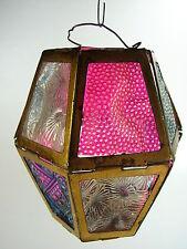 Antique 1880s Christmas Lighting - Thermoplastic Insert Metal Foldup Lantern #3