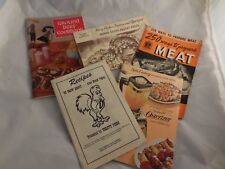 Lot of 5 Vintage Cooking Cookbook Booklets Ground Beef Mirro Press Osterizer