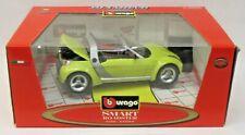 Burago 34099 SMART ROADSTER yellow 1:18 diecast car Mint in Box
